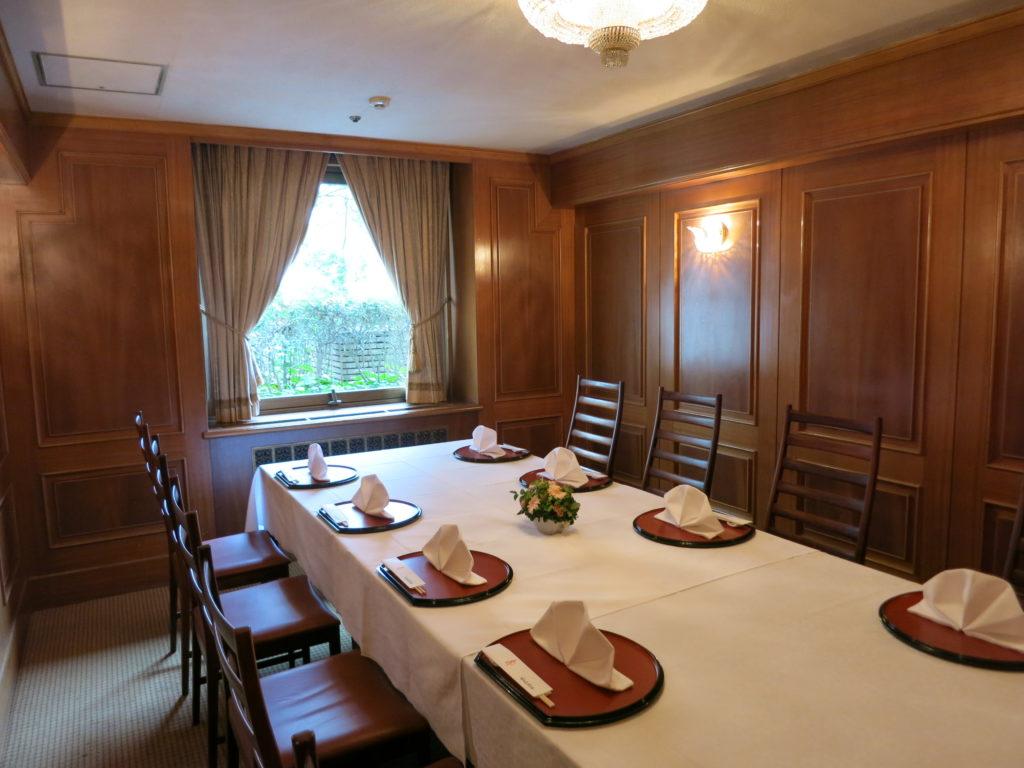 山の上ホテル「親族控室」