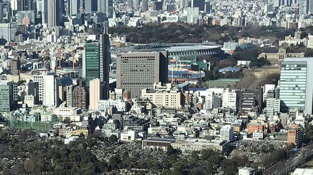 伊藤忠商事本社、新国立競技場、新宿御苑