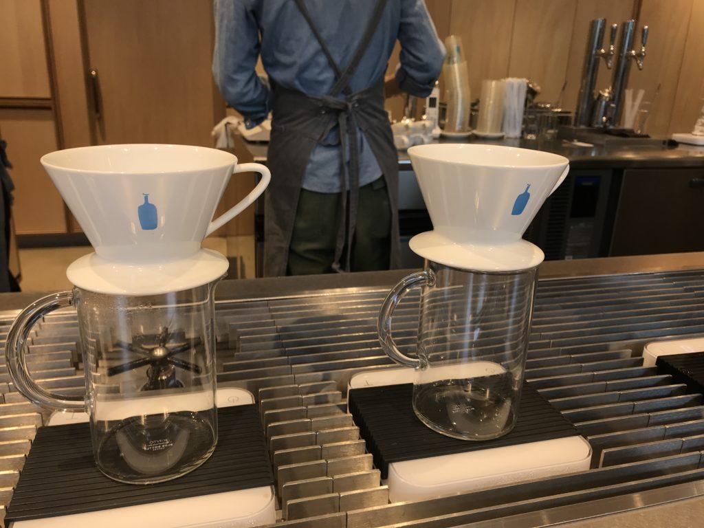 ブルーボトルコーヒー 店頭のハンドドリップ器具