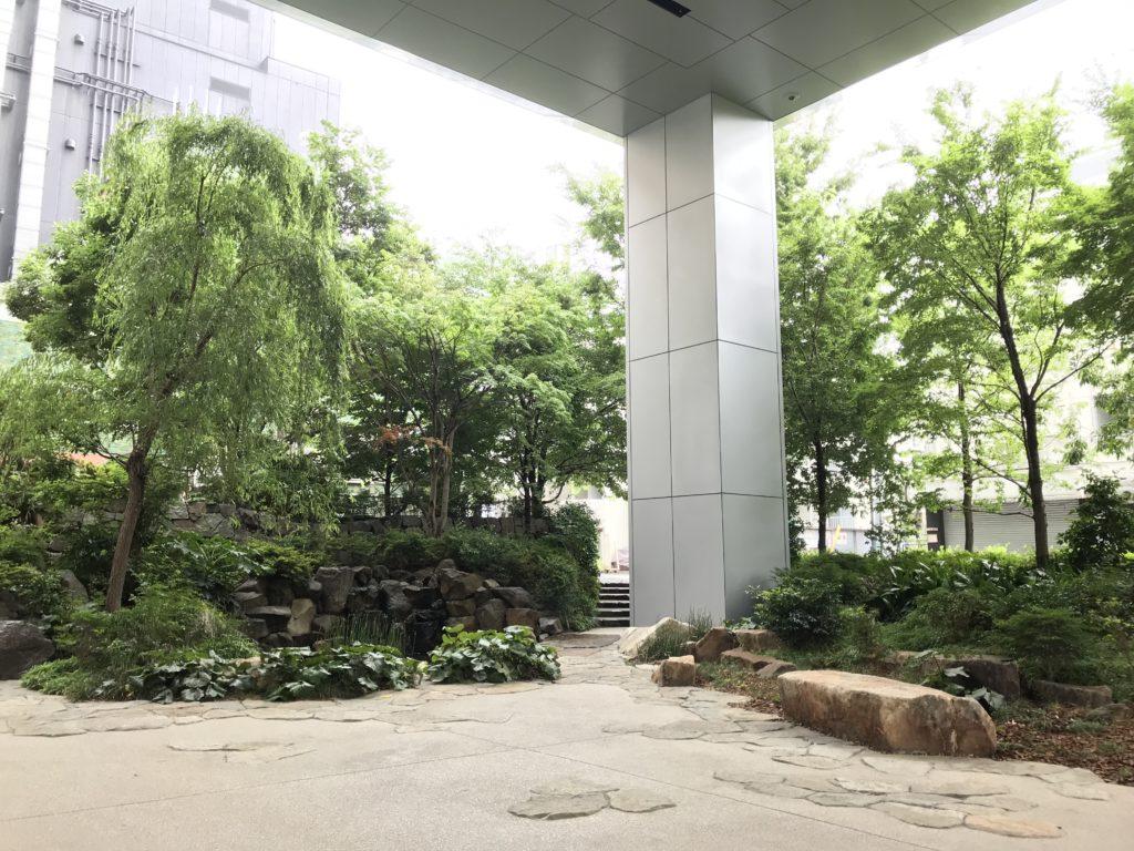 六本木店から見える庭2