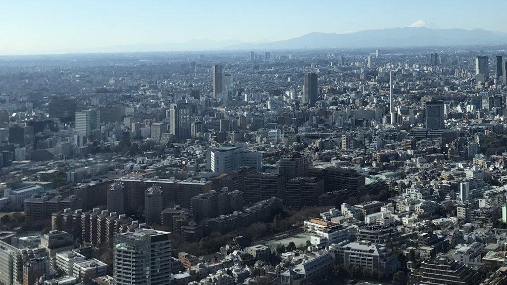 広尾ガーデンヒルズと富士山