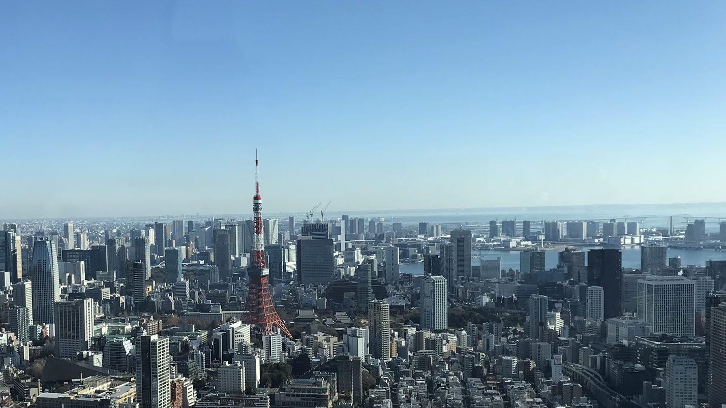 東京タワーと湾岸エリア