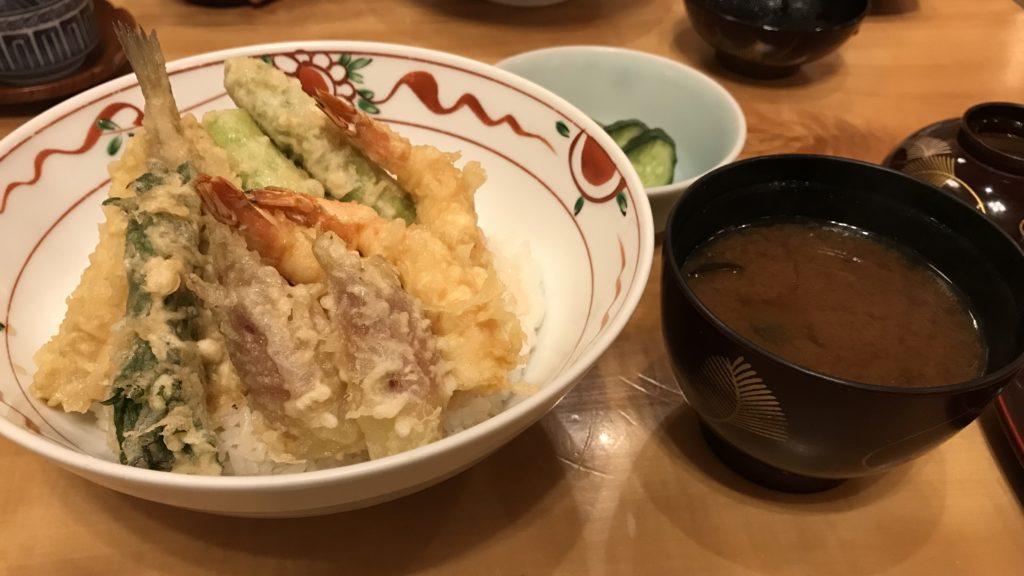 天ぷら山の上 季節の天丼セット