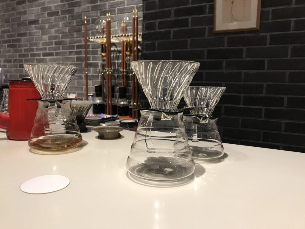 サザコーヒー丸の内 ハンドドリップ用の器具