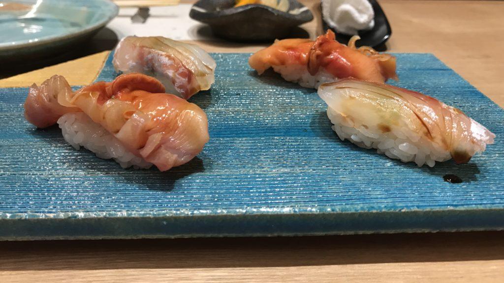 赤貝と鯛の昆布締め