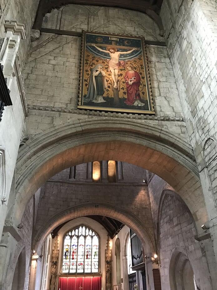 バーフォードの教会 キリストの絵