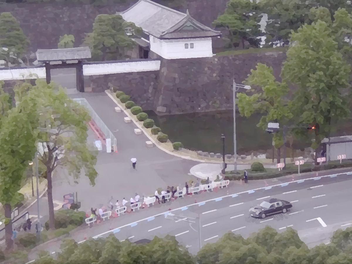 天皇皇后パレード2019 桜田門前