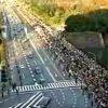 天皇皇后パレード 祝田橋付近