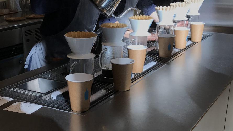 ハンドドリップ中 ブルーボトルコーヒー