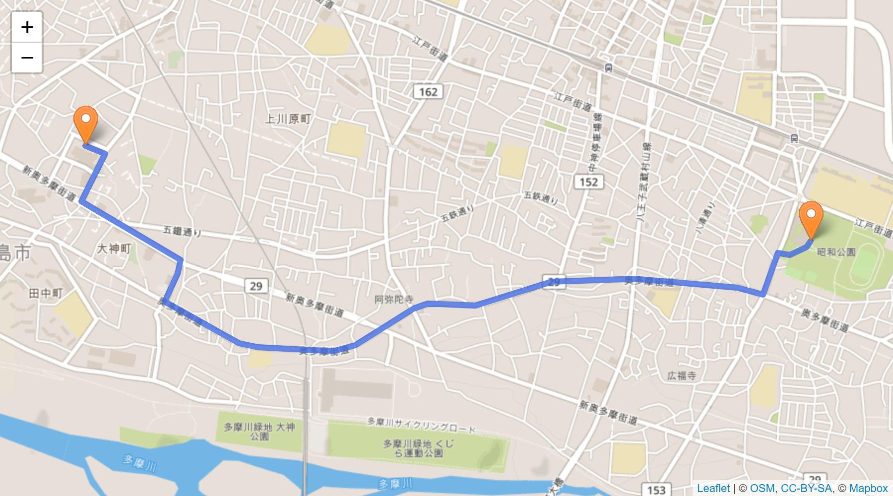 昭島 聖火リレーの情報
