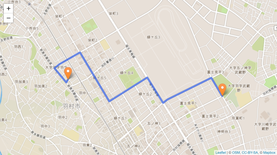 羽村市 聖火リレーのルート
