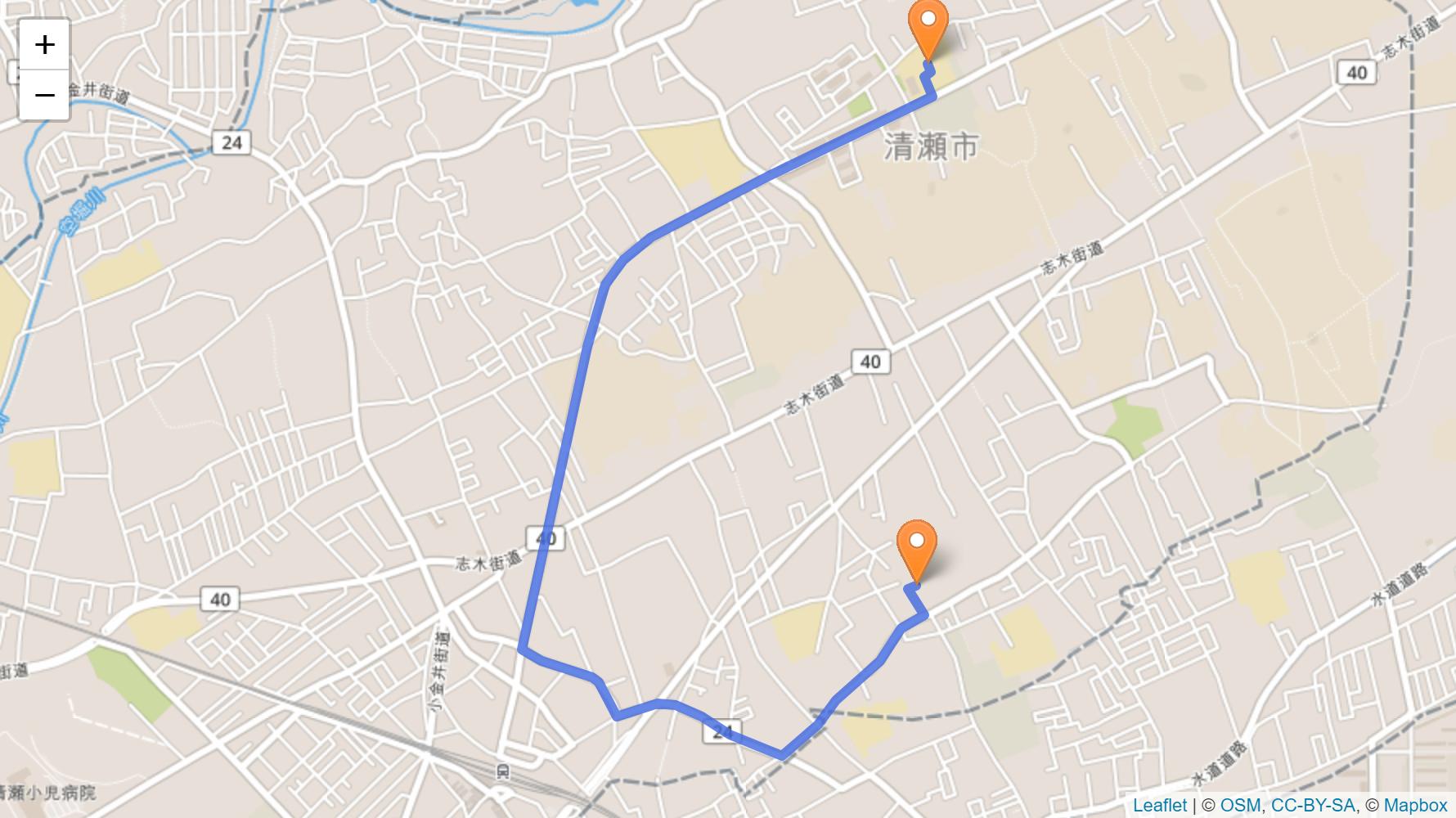 清瀬市 聖火リレーの情報