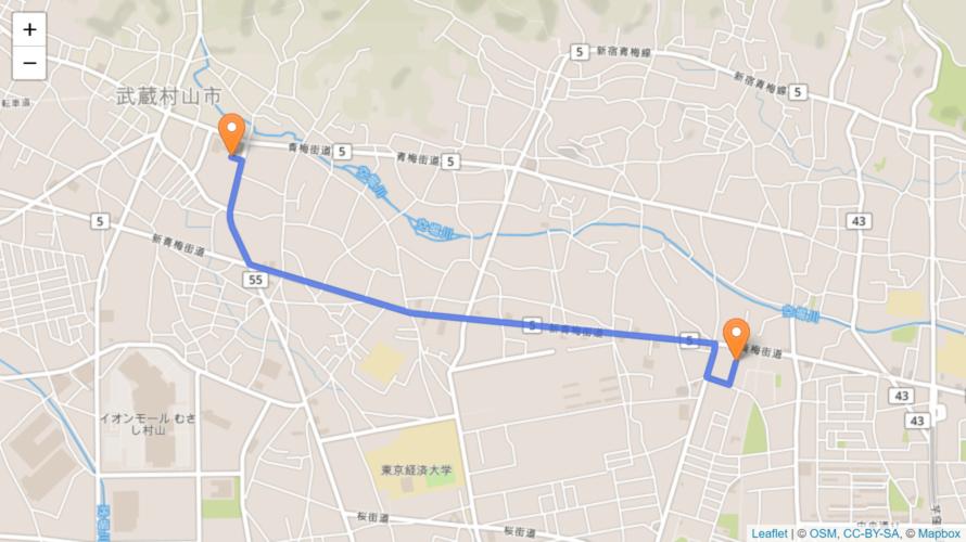 武蔵村山市 聖火リレーのルート