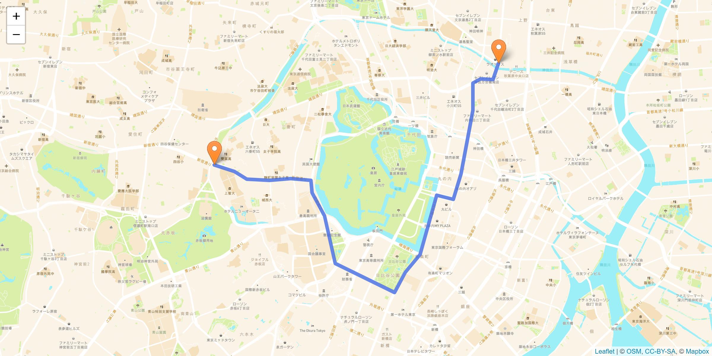千代田区 聖火リレーのルート