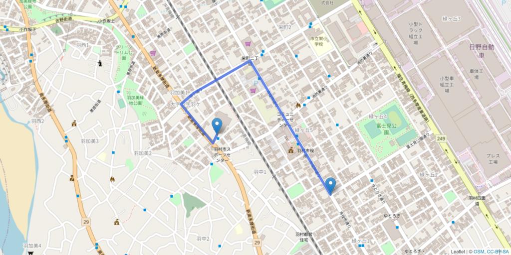 羽村市 聖火リレーリハーサルルート