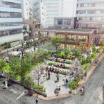 渋谷 北谷公園のイメージ図(東急発表資料)