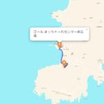 神津島 聖火リレーのルート