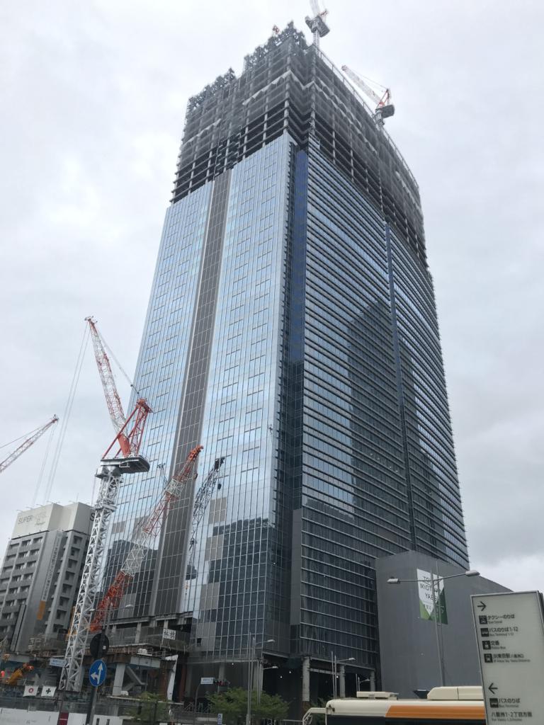 東京ミッドタウン八重洲 建設中の様子